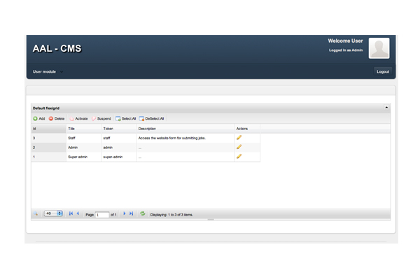 Bespoke web application, CMS for All Asset Logistics