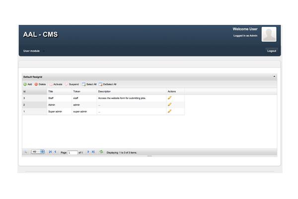Bespoke web application, CMS for All Asset Logistics