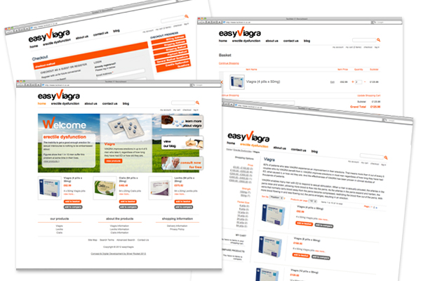 Design concepts/branding, Magento development for Easy Viagra