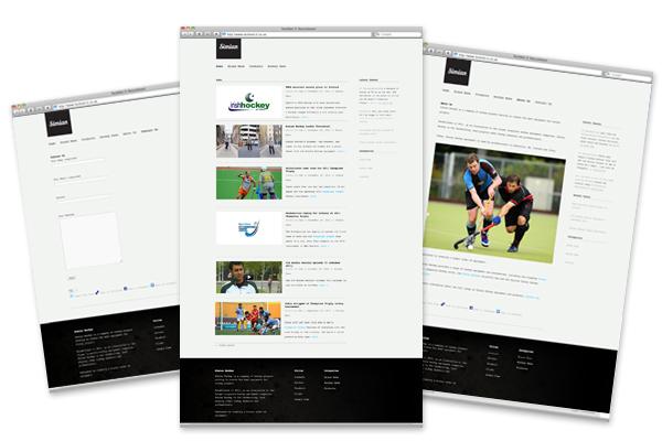 Design concepts/branding, Wordpress CMS development for Simian Hockey